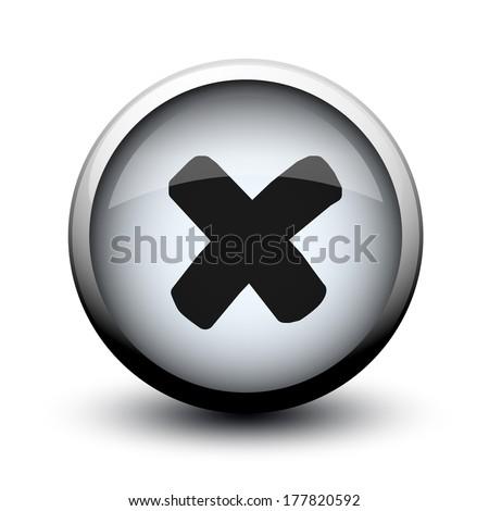 button prohibition cross 2d Stock photo © mizar_21984