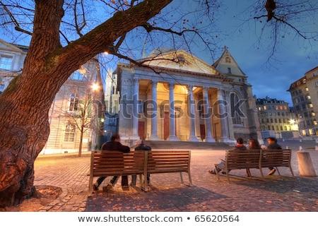 Katedrális Genova Svájc hdr orgona bent Stock fotó © Elenarts