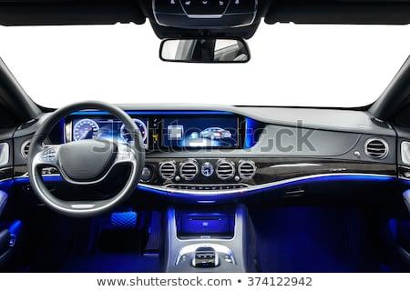 coche · nuevo · dentro · limpio · coche · interior · negro - foto stock © neirfy
