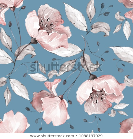 Seamless floral pattern, summer template with abstract flowers Stock photo © elenapro