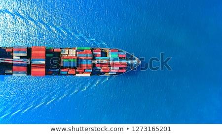 container · vracht · schip · werken · kraan · brug - stockfoto © frameangel