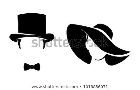 бизнеса Lady Hat стилизованный иллюстрация минимализм Сток-фото © tracer
