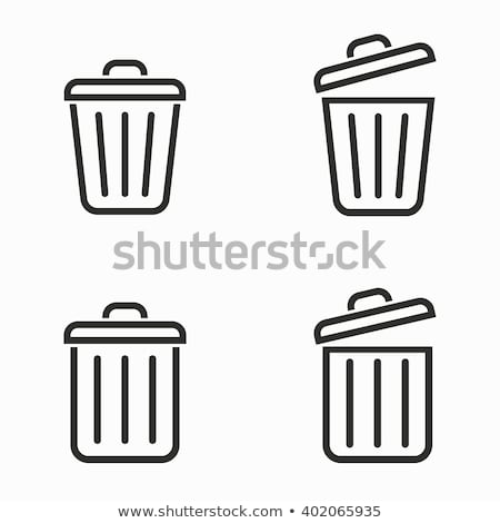 Trashcan vector icon Stock photo © Mr_Vector