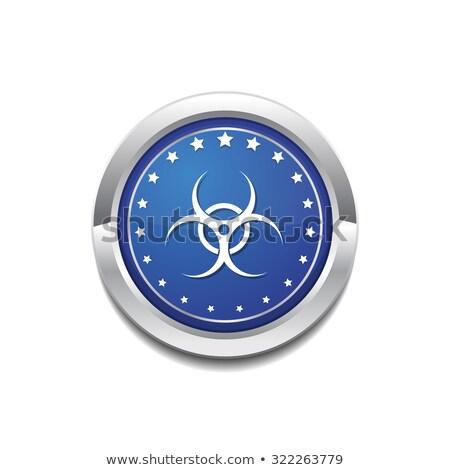 危険標識 · 青 · ベクトル · アイコン · ボタン · ウェブ - ストックフォト © rizwanali3d