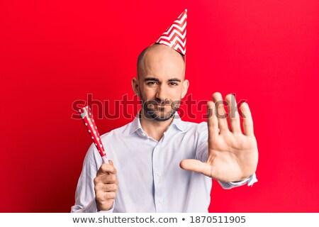 üzletember kifejez nyitva kéz üzlet munka Stock fotó © deandrobot