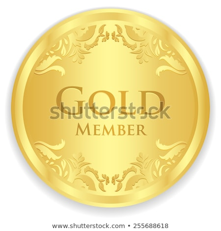 gold member badge with golden vintage pattern stock photo © liliwhite