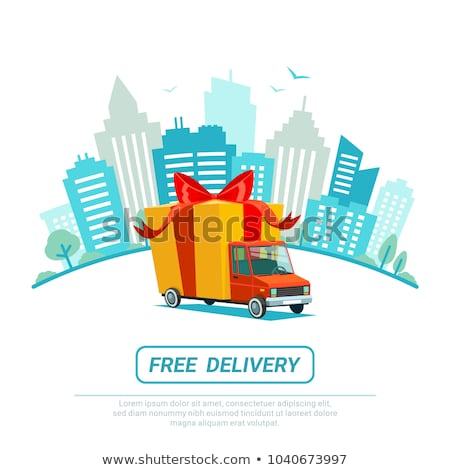Free Delivery Blue Vector Icon Design Stock photo © rizwanali3d