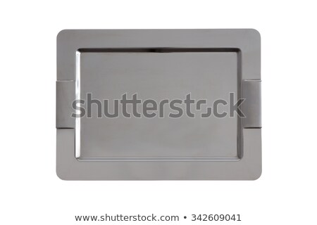 Stylish stainless steel tray with rounded corners Stock photo © ozgur