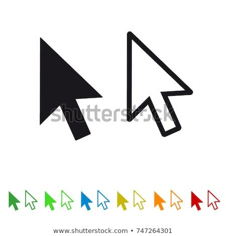 мыши знак желтый вектора икона дизайна Сток-фото © rizwanali3d