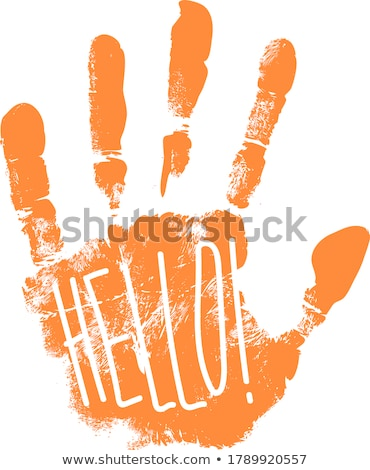 A hi-five artwork with a palm Stock photo © bluering