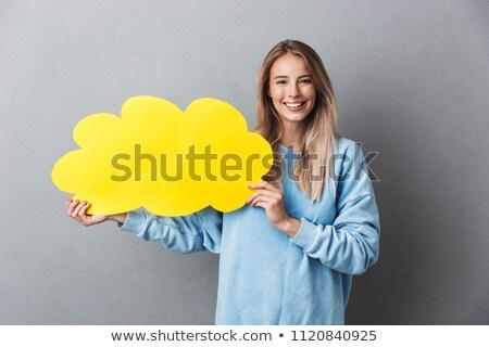 boldog · fiatal · szőke · nő · lány · léggömbök · szőke · nő - stock fotó © NeonShot