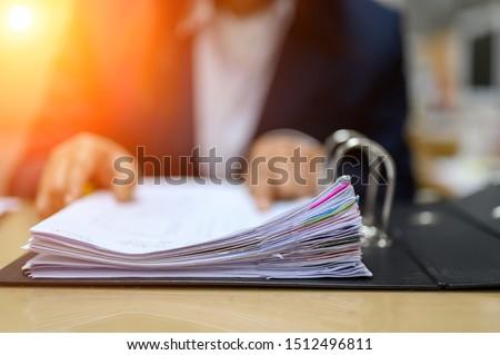 Business bedrijf boekhouder document papierwerk Stockfoto © stevanovicigor