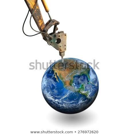 Tractor with drill for digging hole Stock photo © bluering