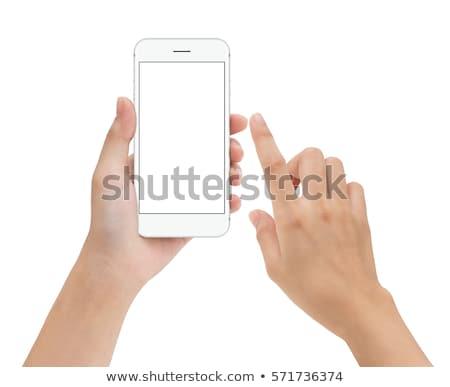 mujer · de · negocios · móviles · pantalla · táctil · teléfono · elegante · mujer · de · negocios - foto stock © stevanovicigor