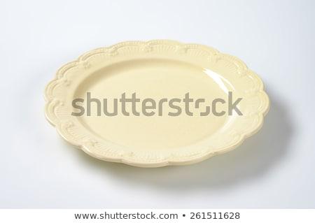Beige decorativo piatto vintage clean ceramica Foto d'archivio © Digifoodstock
