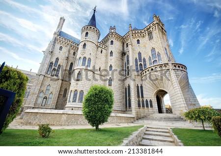 Episcopal Palace Gaudi of Astorga. Spain Stock photo © Photooiasson