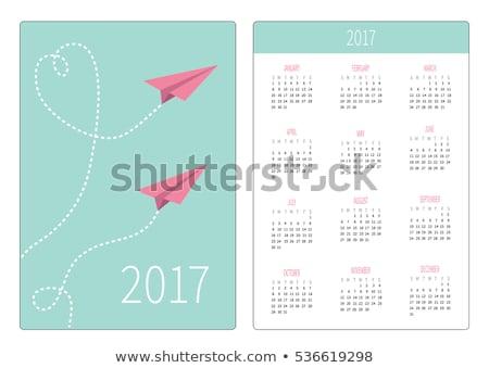 Сток-фото: бумаги · шаблон · два · Flying · иллюстрация