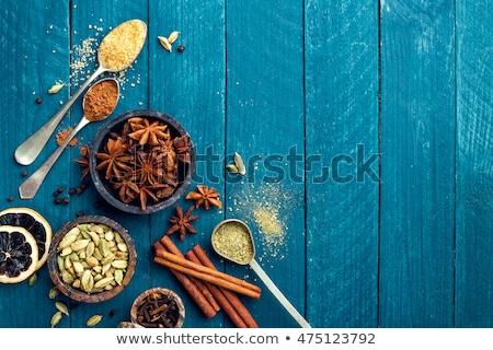 gasztronómiai · különböző · fűszer · karácsony · bor · étel - stock fotó © yelenayemchuk