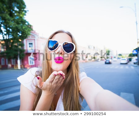 Blondie funny happy pretty girl  Stock photo © artsvitlyna