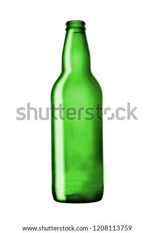 leer · grünen · Bierflasche · Glas · ein · anderer · Tröpfchen - stock foto © devon