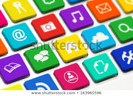 Internet News - Modern Keyboard Concept. Stock photo © tashatuvango