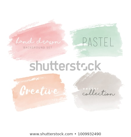 abstract pastel watercolor labels isolated on white background stock photo © tuulijumala