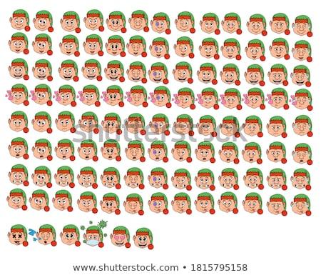 Christmas elf gelukkig helper vrolijk Stockfoto © popaukropa