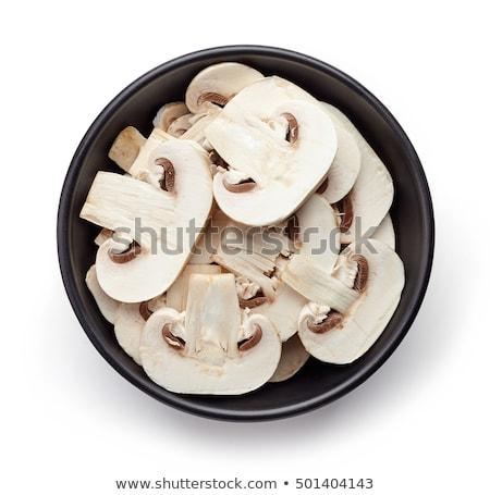 чаши грибы полный белый свежие кнопки Сток-фото © thisboy