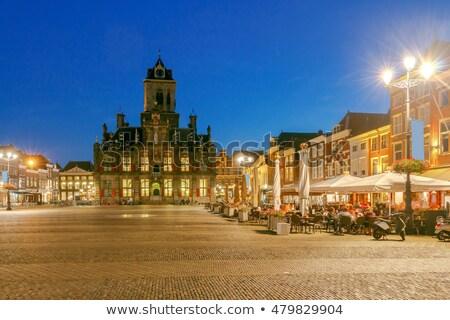 stadhuis · holland · markt · vierkante · huis · straat - stockfoto © benkrut