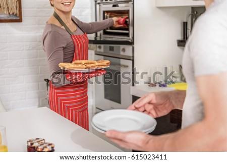 男 料理 ワッフル キッチン 実例 食品 ストックフォト © bluering