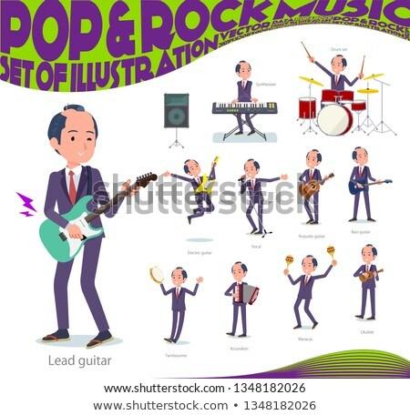 Japans samurai muziek ingesteld zakenman spelen Stockfoto © toyotoyo