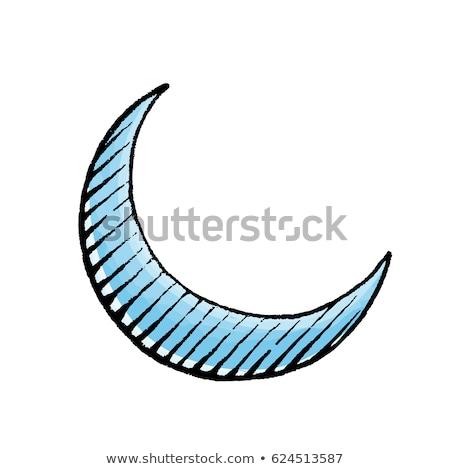 Albastru cerneală schiţă ilustrare izolat Imagine de stoc © cidepix