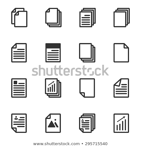 informacji · folderze · ikona · wektora · ilustracja - zdjęcia stock © kyryloff