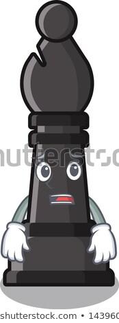 Scared Cartoon Chess Bishop Stock photo © cthoman