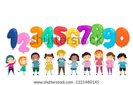 A boy holding number seven Stock photo © bluering
