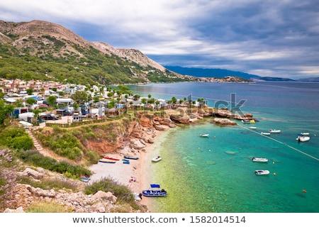 Kamp deniz ada turist hedef Stok fotoğraf © xbrchx