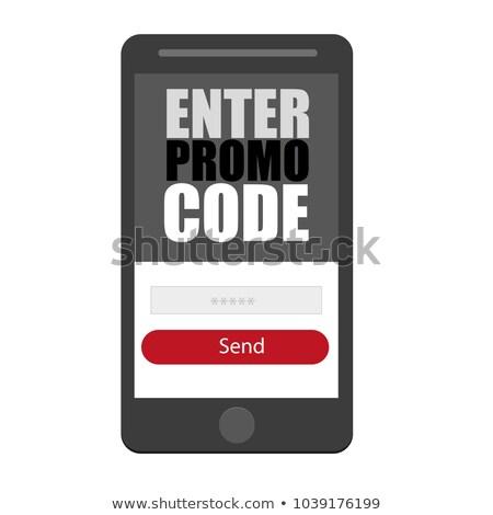 Belépés promo kód vektor okostelefon ikon Stock fotó © Natali_Brill