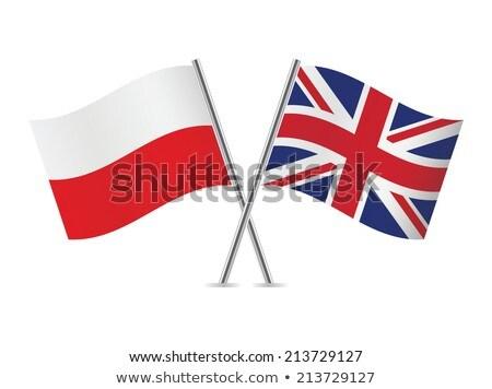 2 フラグ ポーランド 孤立した 白 ストックフォト © MikhailMishchenko