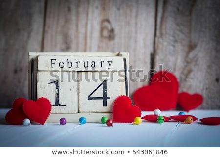Cubes calendar 14th February Stock photo © Oakozhan
