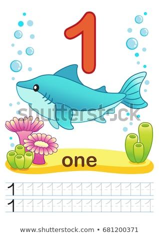 Matematyki piśmie ilustracja ryb tle Zdjęcia stock © colematt