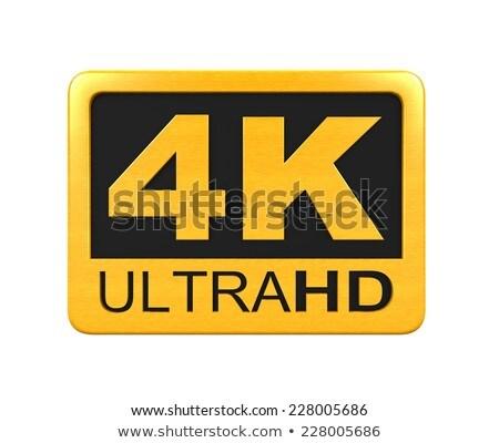 3d golden 4k ultra text stock photo © ribah