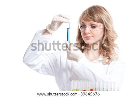 tudós · tart · főzőpohár · kémcső · illusztráció · orvos - stock fotó © colematt