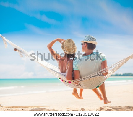 Happy family lying together on the beach, Thailand Stock photo © Yongkiet