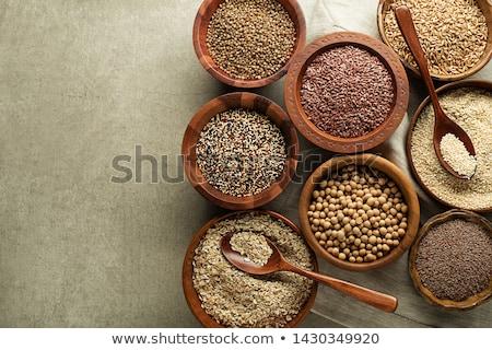 Stock photo: Chia, quinoa and flax seeds
