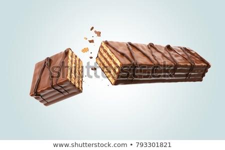 Csokoládé ostya étel Belgium izolált közelkép Stock fotó © FOKA