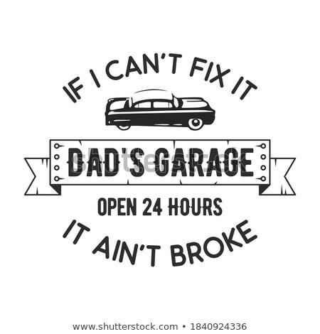 Garage badge print leuze typografie embleem Stockfoto © JeksonGraphics