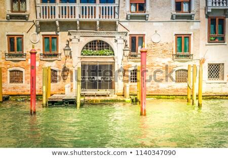 ヴェネツィア 家 イタリア カラフル ゴンドラ ボート ストックフォト © neirfy