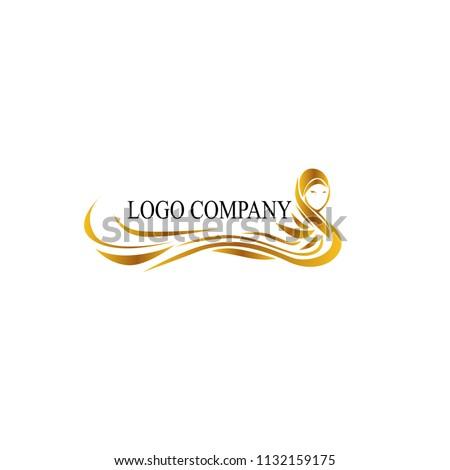 Hijab logo modello design business faccia Foto d'archivio © Ggs