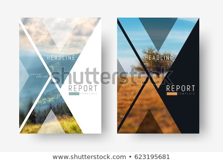 Brochure flyer template with nature photo Stock photo © orson