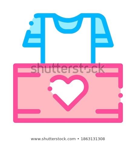 önkéntesek támogatás doboz vektor vékony vonal Stock fotó © pikepicture
